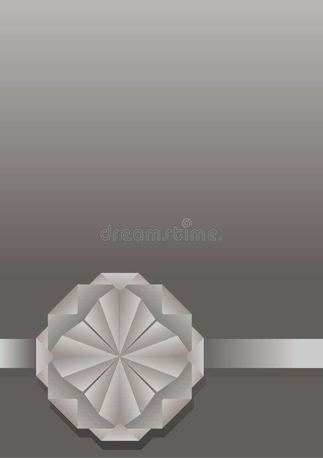 Fondo decorativo con una flor de papel stock de ilustración