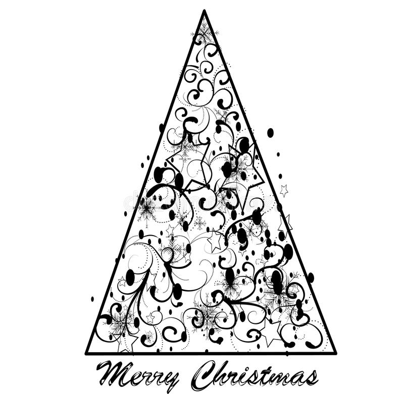 Fondo decorativo de la abstracción del árbol de navidad ilustración del vector
