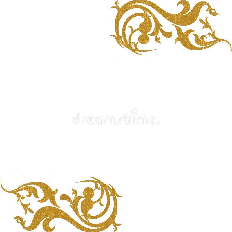 Fondo Decorativo De Las Esquinas Del Oro Fotografía de archivo