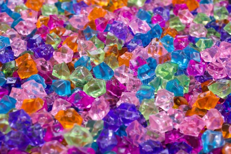 Fondo decorativo de los cristales imagen de archivo