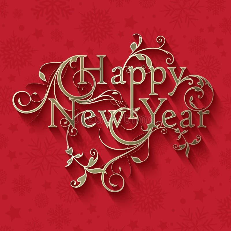 Fondo decorativo del Año Nuevo stock de ilustración