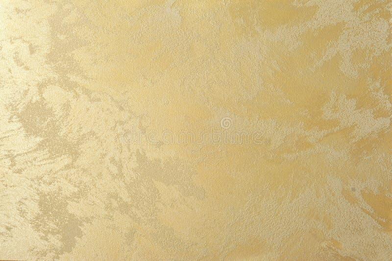 Fondo decorativo del arte del yeso del efecto de oro de la perla fotografía de archivo
