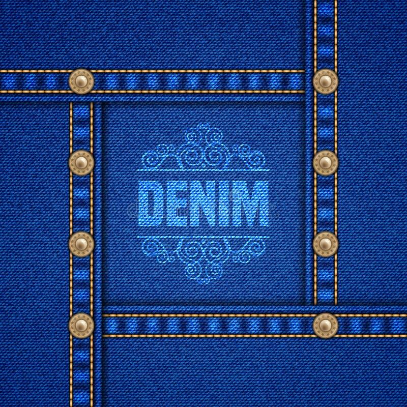 Fondo decorativo del dril de algodón ilustración del vector