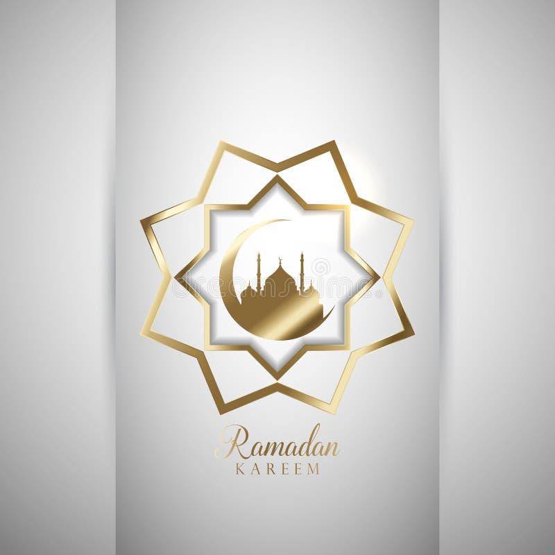 Fondo decorativo del Ramadán stock de ilustración