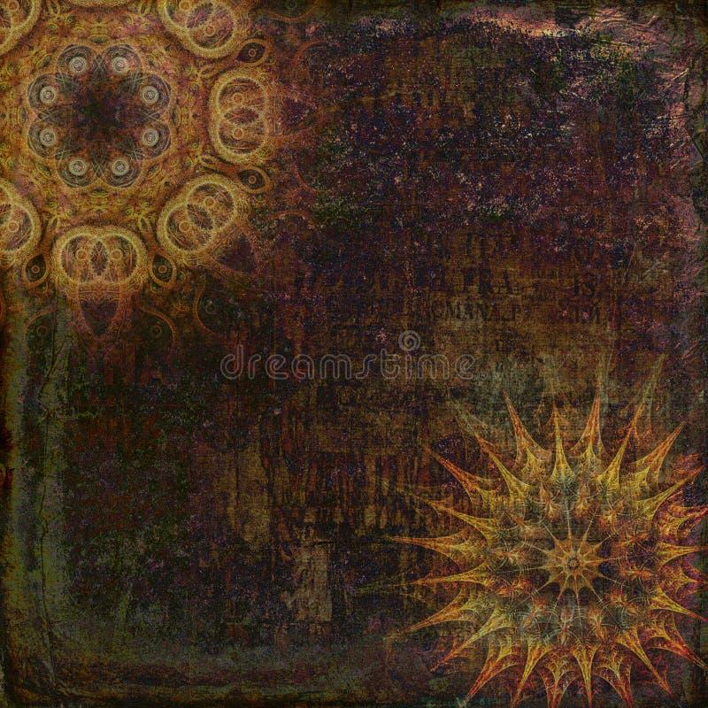 Fondo decorativo della mandala di lerciume illustrazione vettoriale