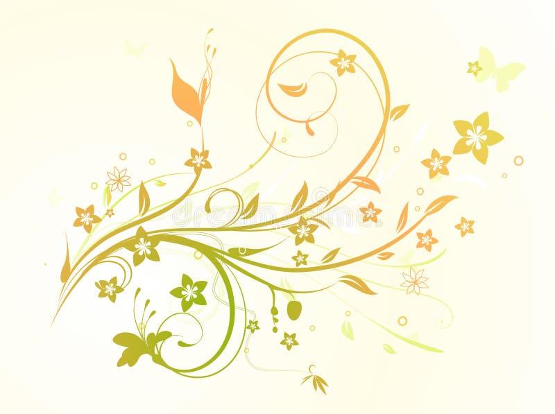 Fondo decorativo floral stock de ilustración