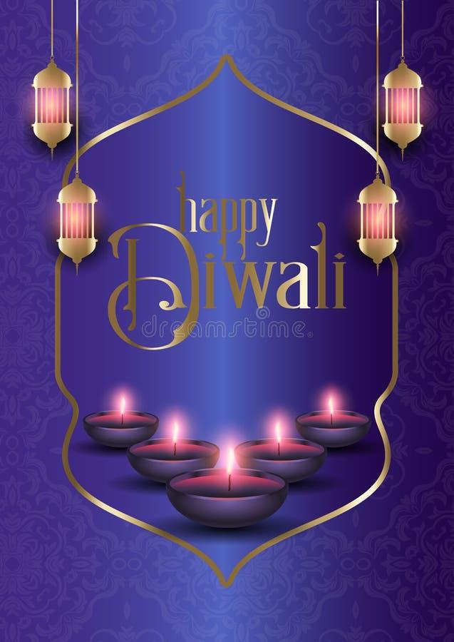 Fondo decorativo per Diwali royalty illustrazione gratis