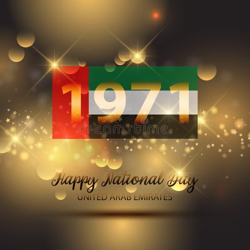 Fondo decorativo per la celebrazione di festa nazionale dei UAE illustrazione vettoriale
