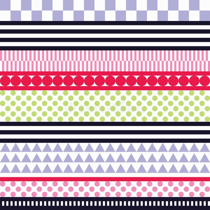 Fondo decorativo senza cuciture con le forme geometriche illustrazione vettoriale