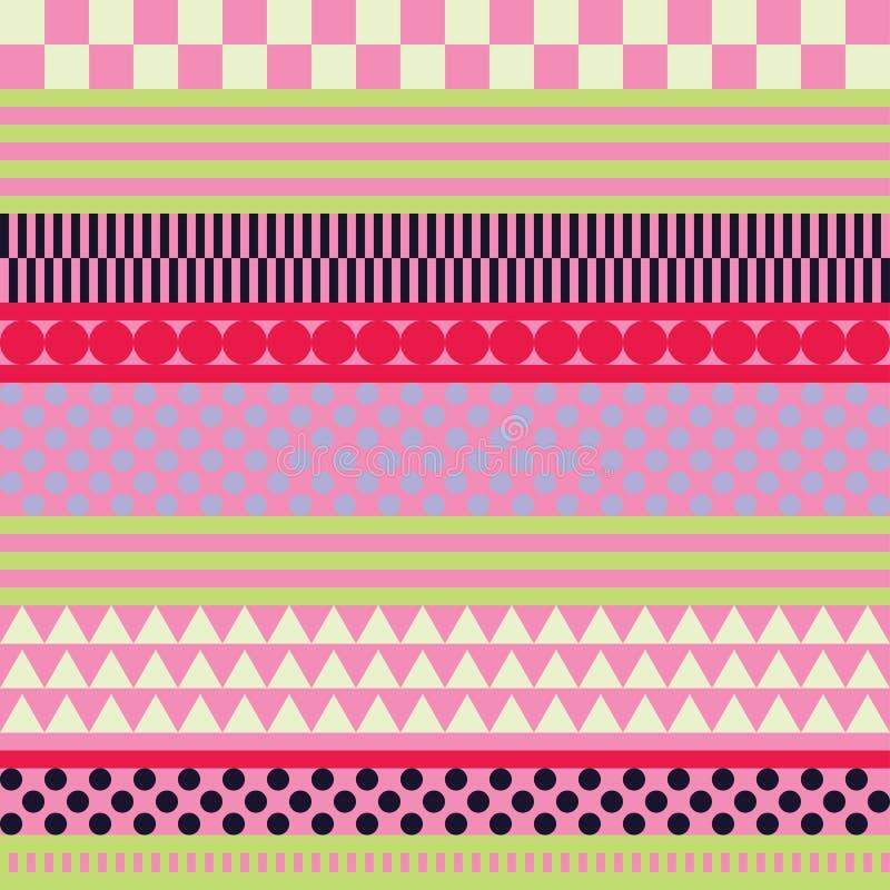 Fondo decorativo senza cuciture con le forme geometriche royalty illustrazione gratis
