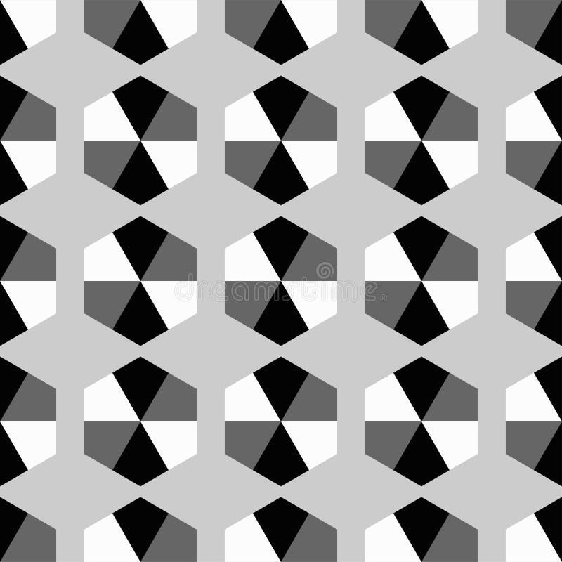 Fondo decorativo senza cuciture con le forme geometriche illustrazione di stock