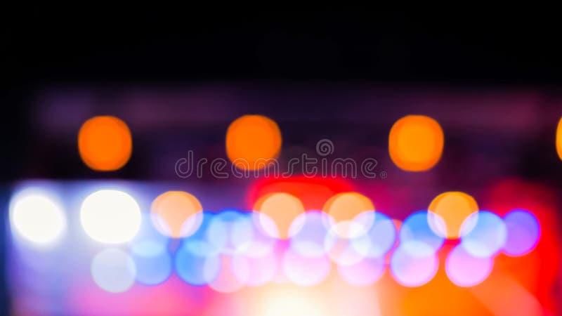 Fondo Defocused de la iluminación del concierto foto de archivo libre de regalías