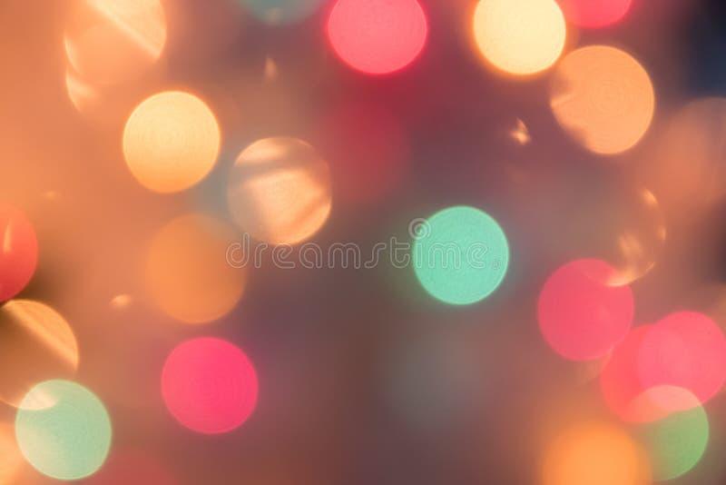 Fondo Defocused de la luz del bokeh por la Navidad y el Año Nuevo Cele imagenes de archivo