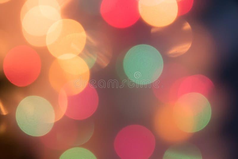 Fondo Defocused de la luz del bokeh por la Navidad y el Año Nuevo Cele imagen de archivo