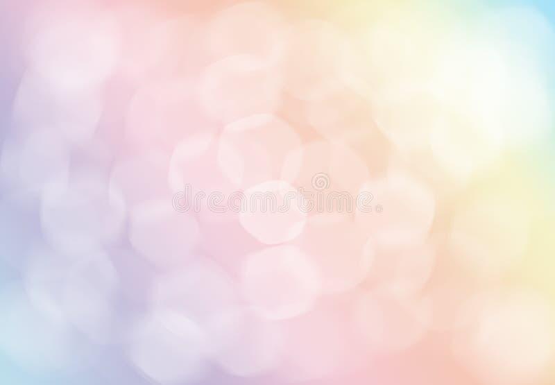 Fondo Defocused de la Navidad en colores pastel rosada abstracta del oro luz stock de ilustración