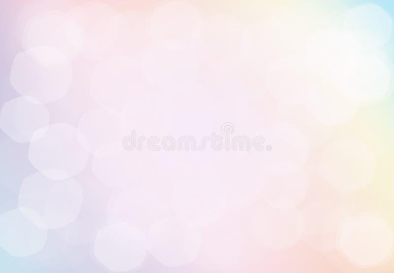 Fondo Defocused de la Navidad en colores pastel rosada abstracta del oro luz ilustración del vector
