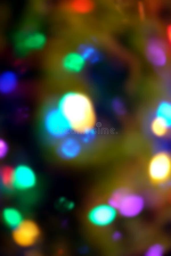 Fondo Defocused de las luces de la Navidad imagen de archivo libre de regalías