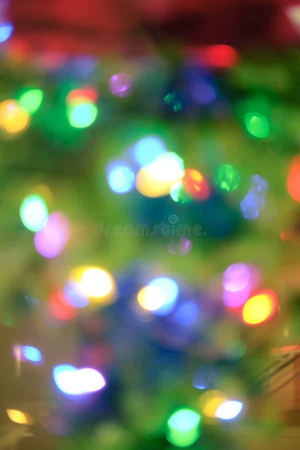 Fondo Defocused de las luces de la Navidad fotografía de archivo libre de regalías