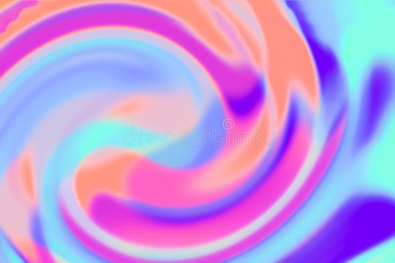 Fondo Defocused del papel olográfico multicolor liso torcido imágenes de archivo libres de regalías