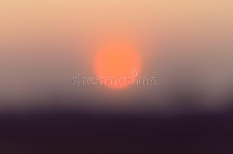 Fondo Defocused di tramonto, sfuocatura astratta immagini stock libere da diritti