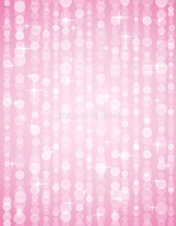 Fondo defocused rosado de los brightnes. Bokeh brillante stock de ilustración