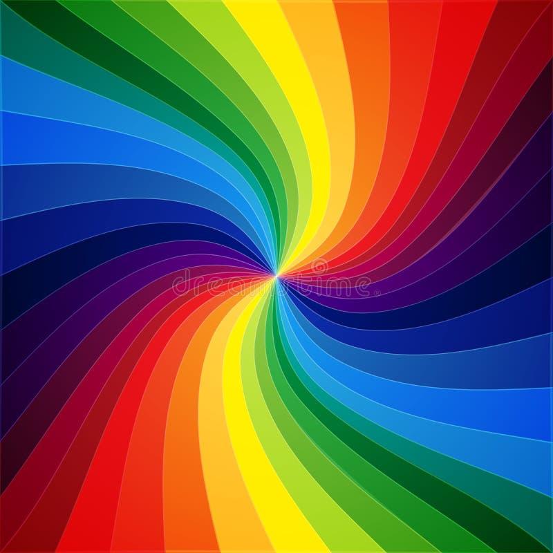 Fondo deformado colorido de las rayas del arco iris stock de ilustración