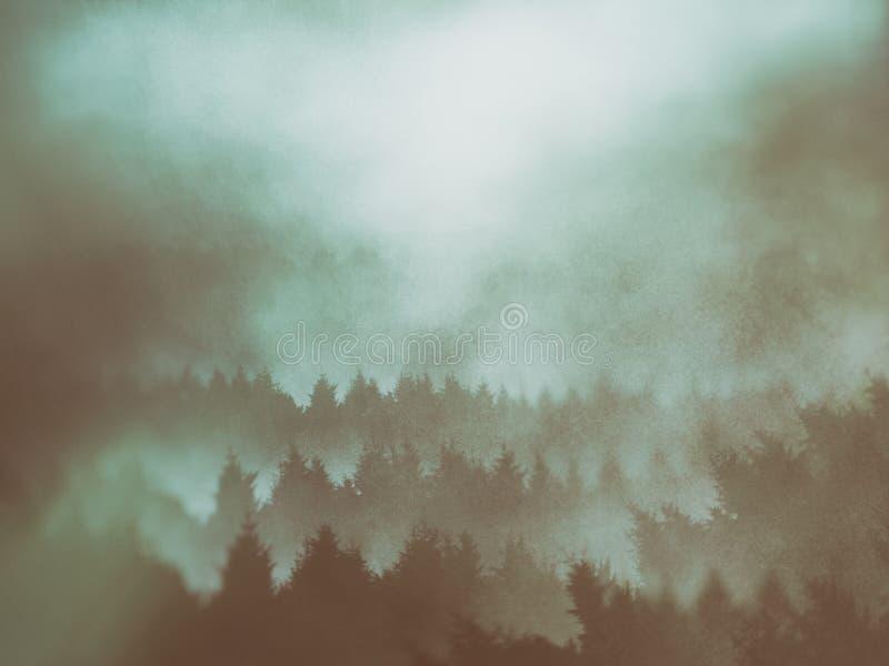Fondo degli alberi con le strutture grungy fotografia stock libera da diritti