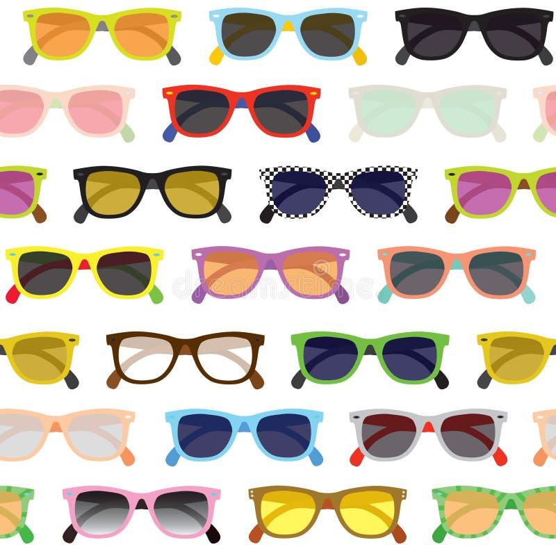 Fondo degli occhiali da sole dei pantaloni a vita bassa illustrazione di stock