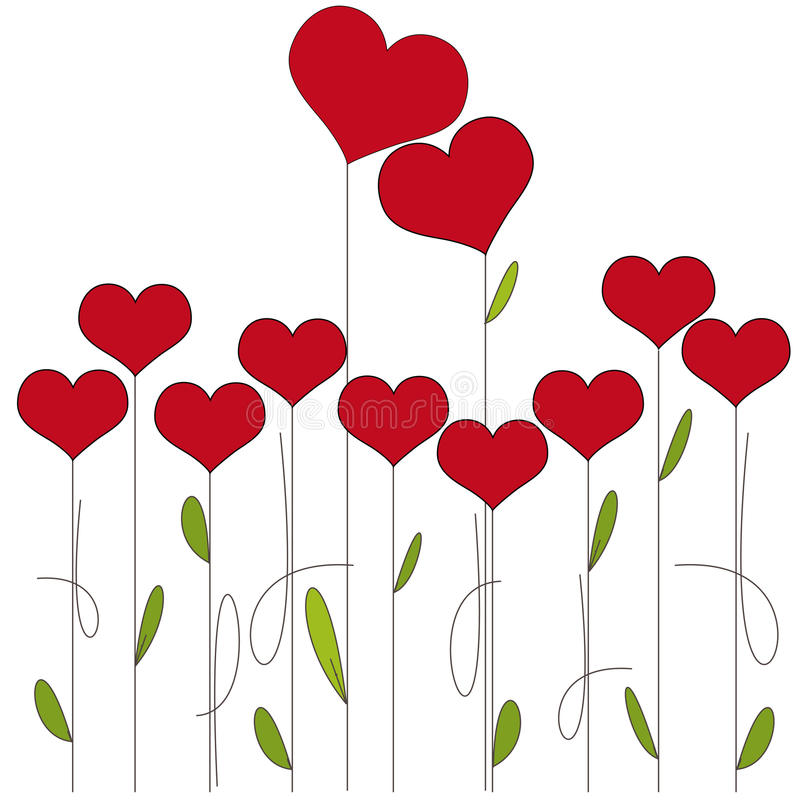 Fondo dei biglietti di S. Valentino illustrazione vettoriale