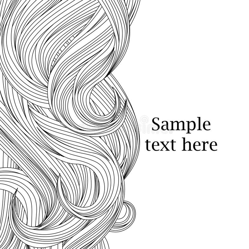 Fondo dei capelli royalty illustrazione gratis
