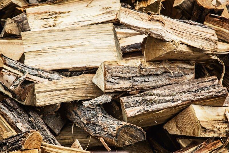 Fondo dei ceppi di legno, industria del legno immagini stock
