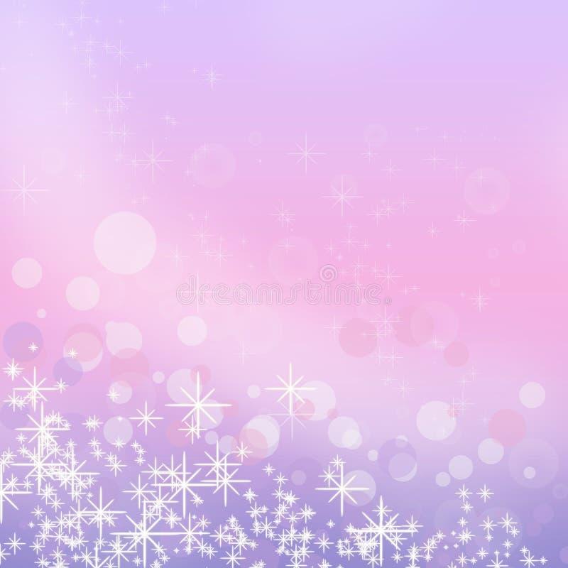 Fondo dei fiocchi di neve di Natale royalty illustrazione gratis