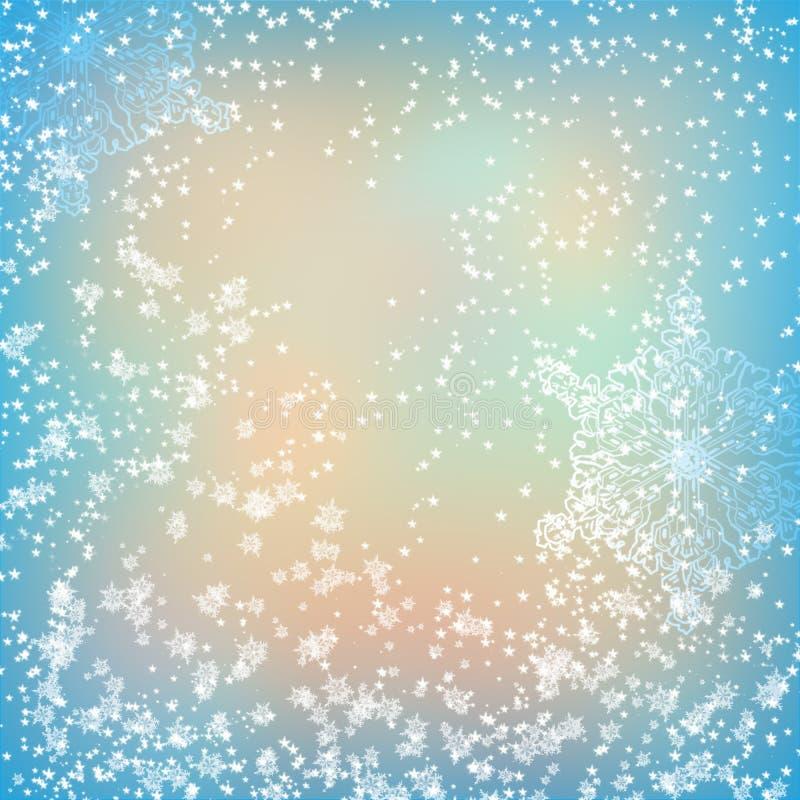 Fondo dei fiocchi di neve di Natale fotografia stock libera da diritti