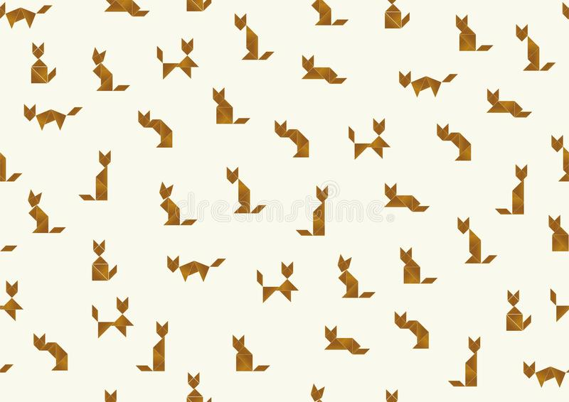 Fondo dei gatti del tangram illustrazione vettoriale