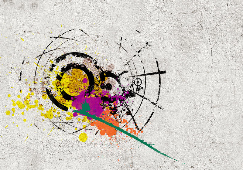 Fondo dei graffiti illustrazione vettoriale