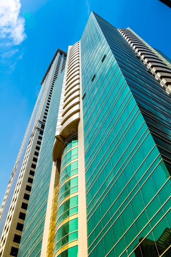 Fondo dei grattacieli del Dubai immagine stock libera da diritti