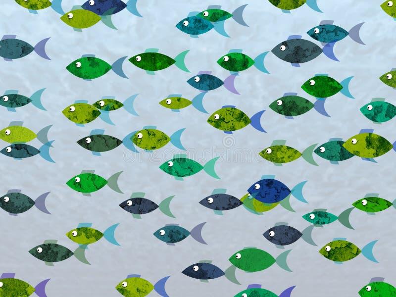 Fondo dei pesci royalty illustrazione gratis