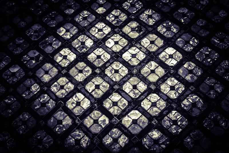 Fondo dei pezzi di bello del primo piano dell'estratto colore di struttura e progettazione di vetro di arte fotografie stock libere da diritti