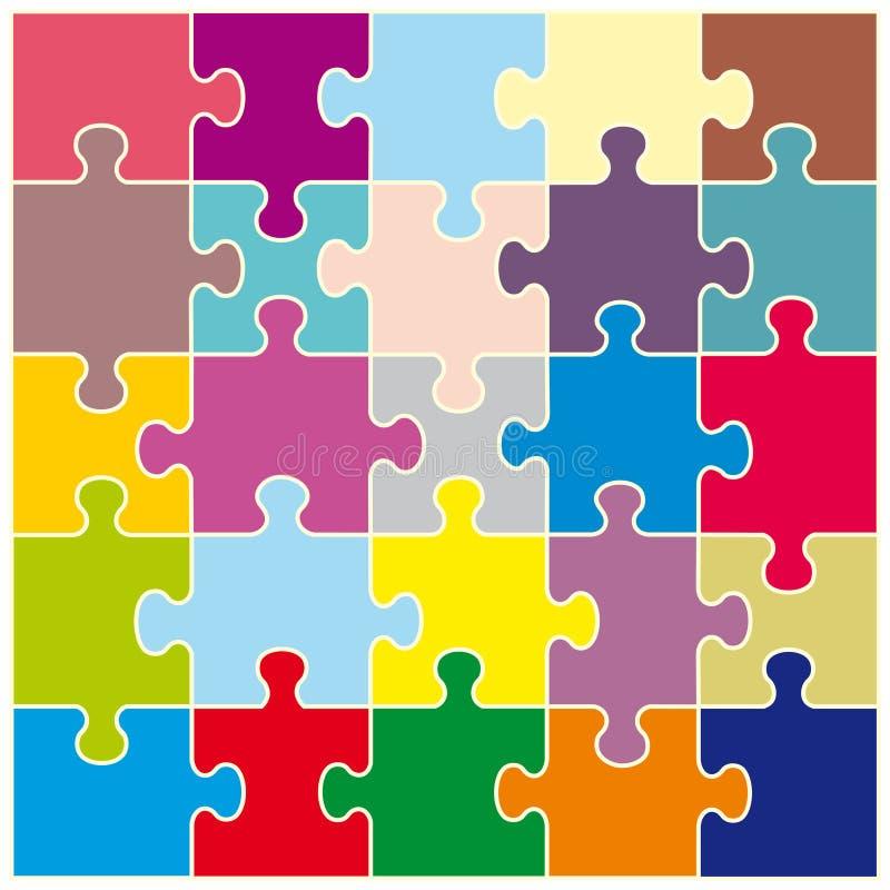 Fondo dei puzzle variopinti illustrazione vettoriale
