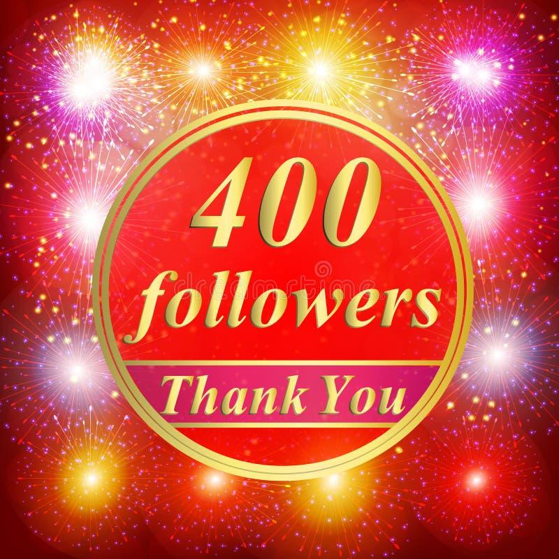 Fondo dei seguaci 400 seguaci immagini stock
