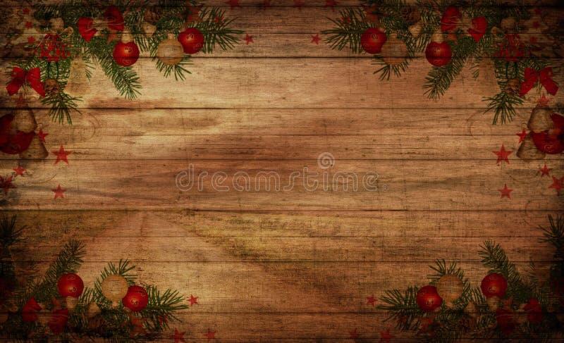 Fondo del árbol de la ramita de la picea con los juguetes fotos de archivo