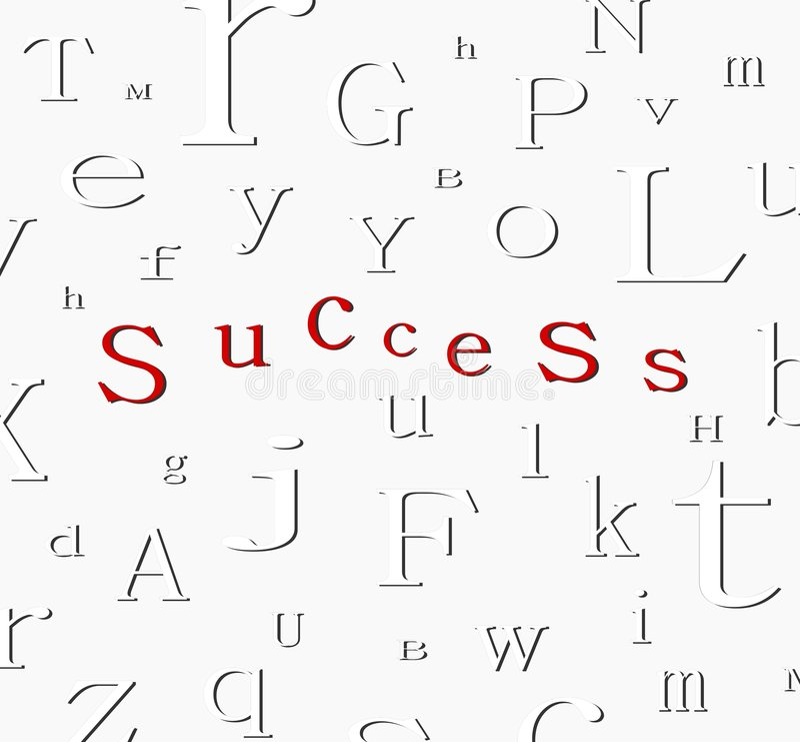 Fondo del éxito del alfabeto ilustración del vector