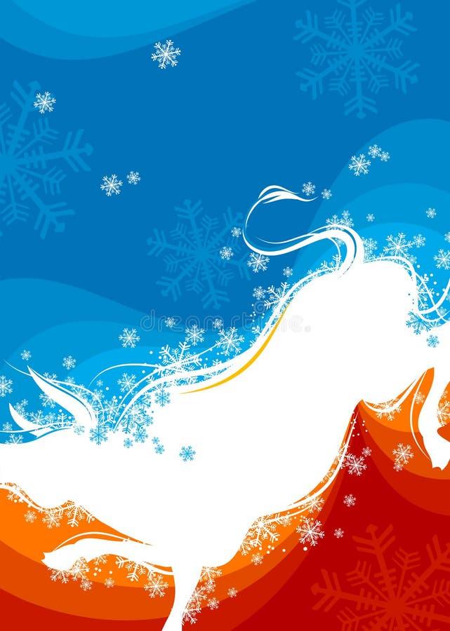 Fondo del Año Nuevo. Buey 3 stock de ilustración