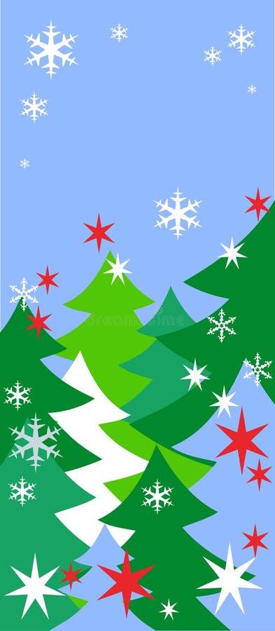 Fondo del Año Nuevo del invierno ilustración del vector