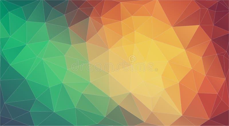 Fondo del abstrat del mosaico del triángulo Pendientes geométricas del modelo stock de ilustración
