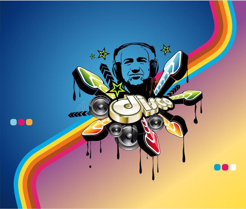Fondo del acontecimiento de la música del disco ilustración del vector
