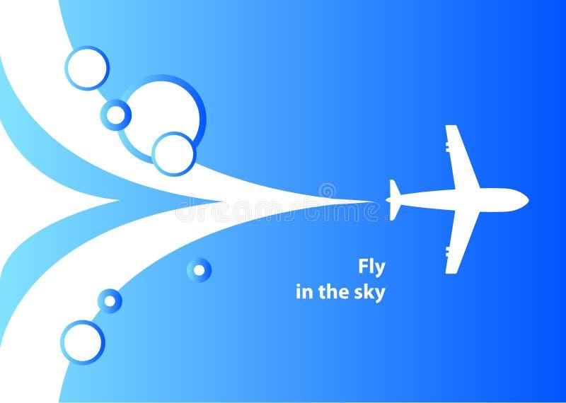 Fondo del aeroplano stock de ilustración