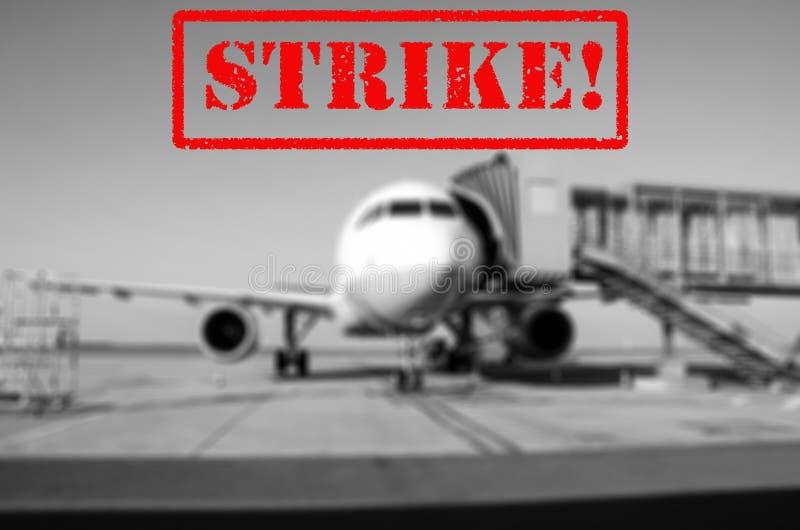 Fondo del aeropuerto de la huelga imágenes de archivo libres de regalías