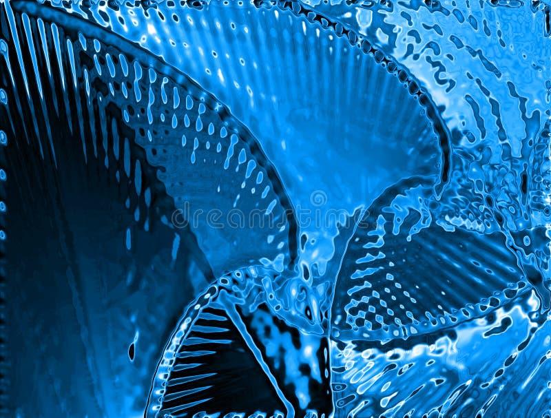 Fondo del agua azul ilustración del vector
