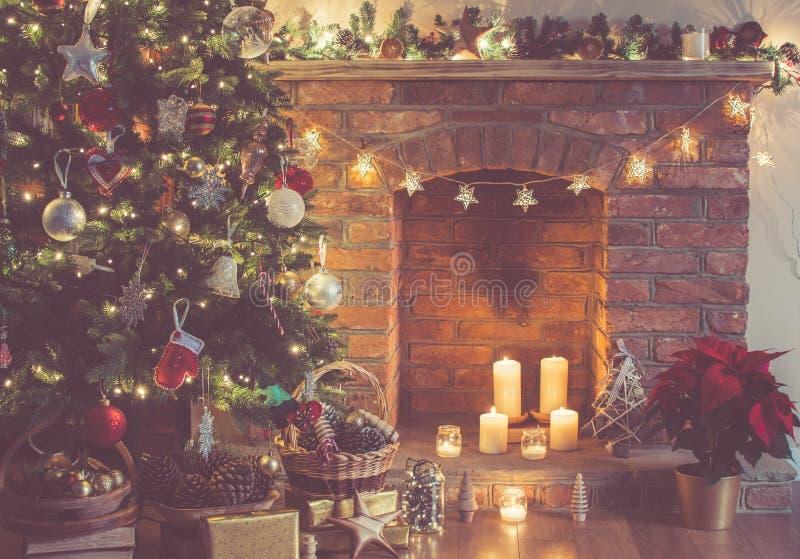 Fondo del ajuste de la Navidad imagenes de archivo